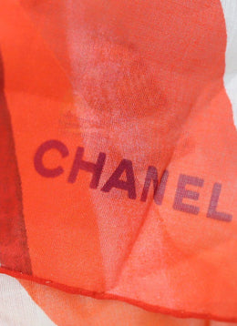 Chanel Blue Orange White Aqua Cotton W/Pouch 2