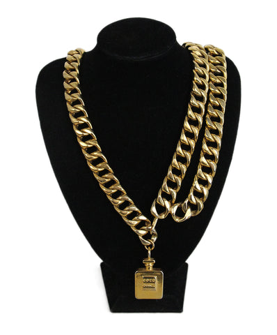 8a95344242 Chanel Perfume Bottle Gold Chain Vintage Belt 1 ...