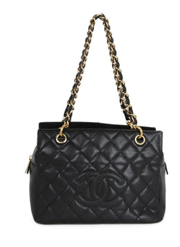Chanel Petite Timeless Black Caviar Leather Tote 1