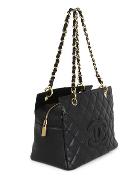 Chanel Petite Timeless Black Caviar Leather Tote 2
