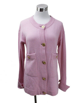 Chanel Pink Gold Button Cardigan sz 4
