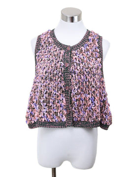 Chanel Pink Lavender Cotton Silk Sweater