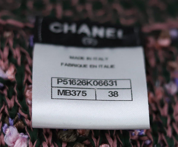 Chanel Pink Lavender Cotton Silk Sweater Vest Sz 6
