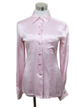 Blouse Chanel Pink Silk Top 1