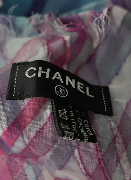 Chanel Blue Purple Cotton W/Pouch 2
