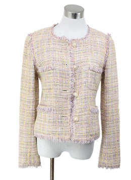 Chanel Purple Lilac Yellow Cotton Jacket 1