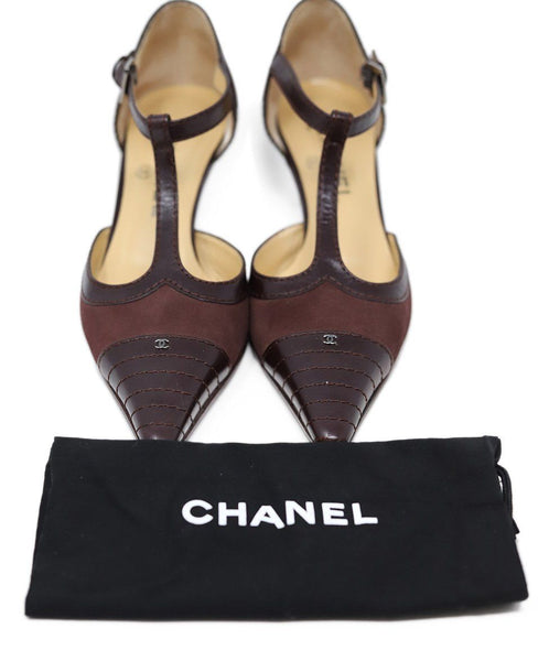 Chanel Burgundy Leather Heels 4