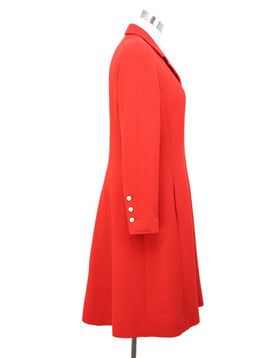 Chanel Red Silk Spandex Coat sz 6