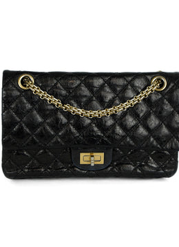 Chanel Black Quilted Leather Classic Reissue 2.55 Handbag | Chanel