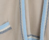 Chanel Beige and Blue Trim Cashmere Sweater 5