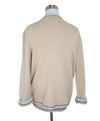 Chanel Beige and Blue Trim Cashmere Sweater 3