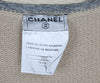 Chanel Beige and Blue Trim Cashmere Sweater 4