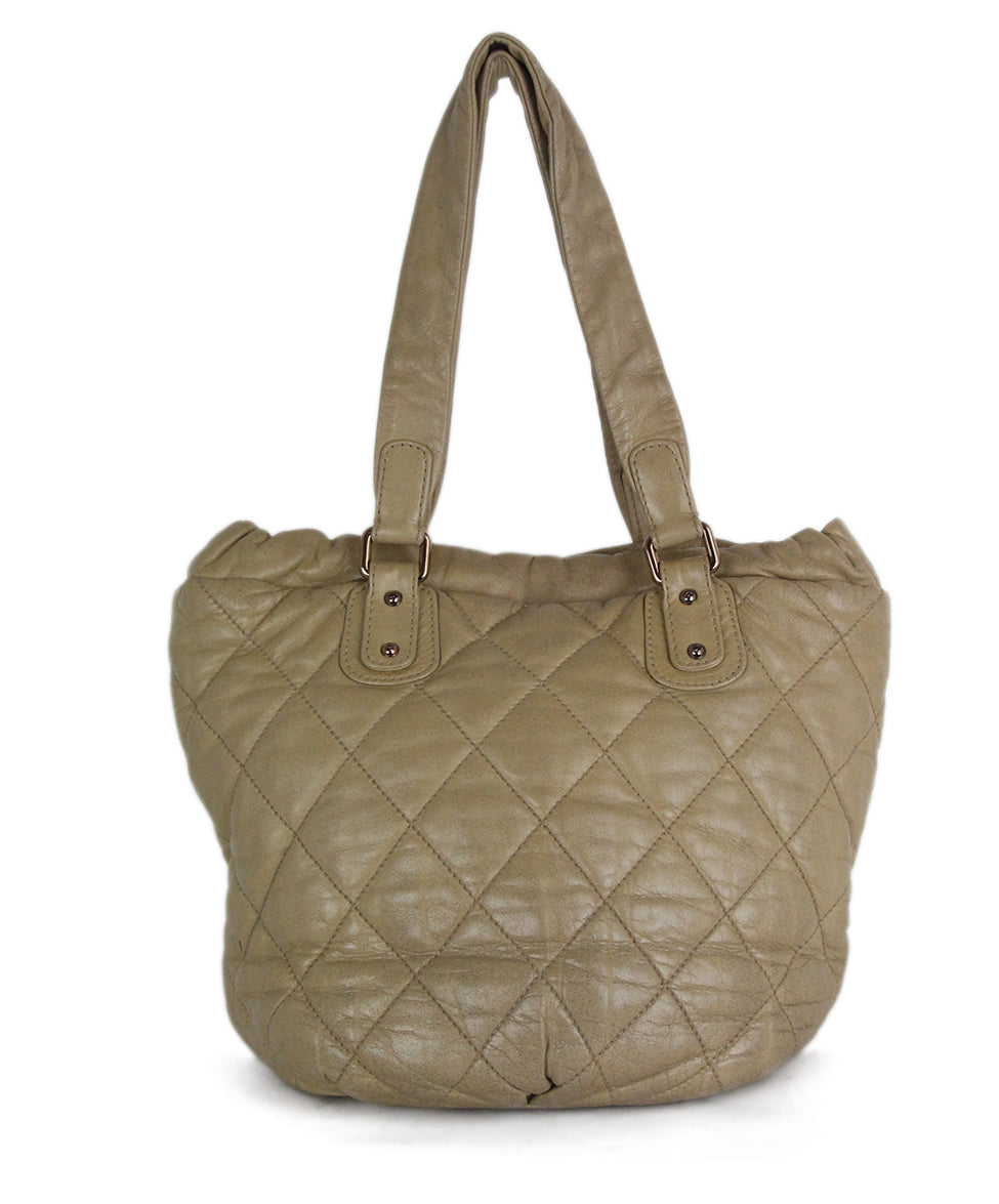 Chanel Tan Leather Tote 3