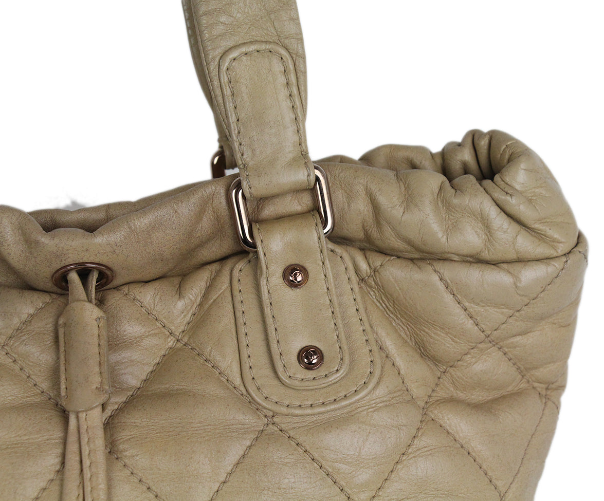 Chanel Tan Leather Tote 11