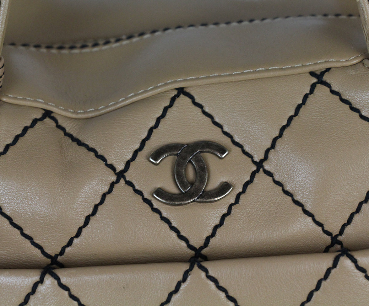 Chanel Tan Leather Travel Bag 9