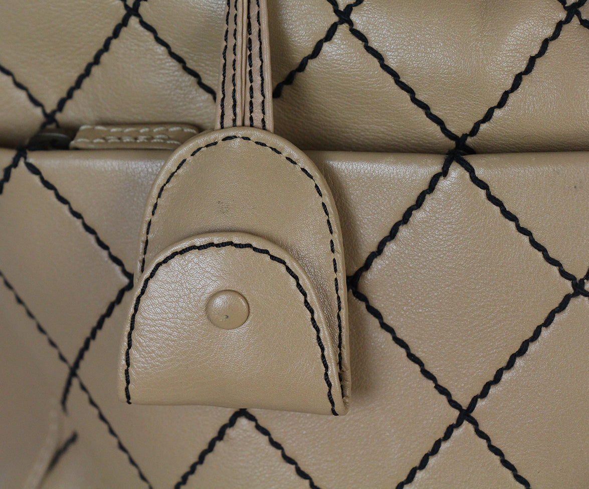 Chanel Tan Leather Travel Bag 10
