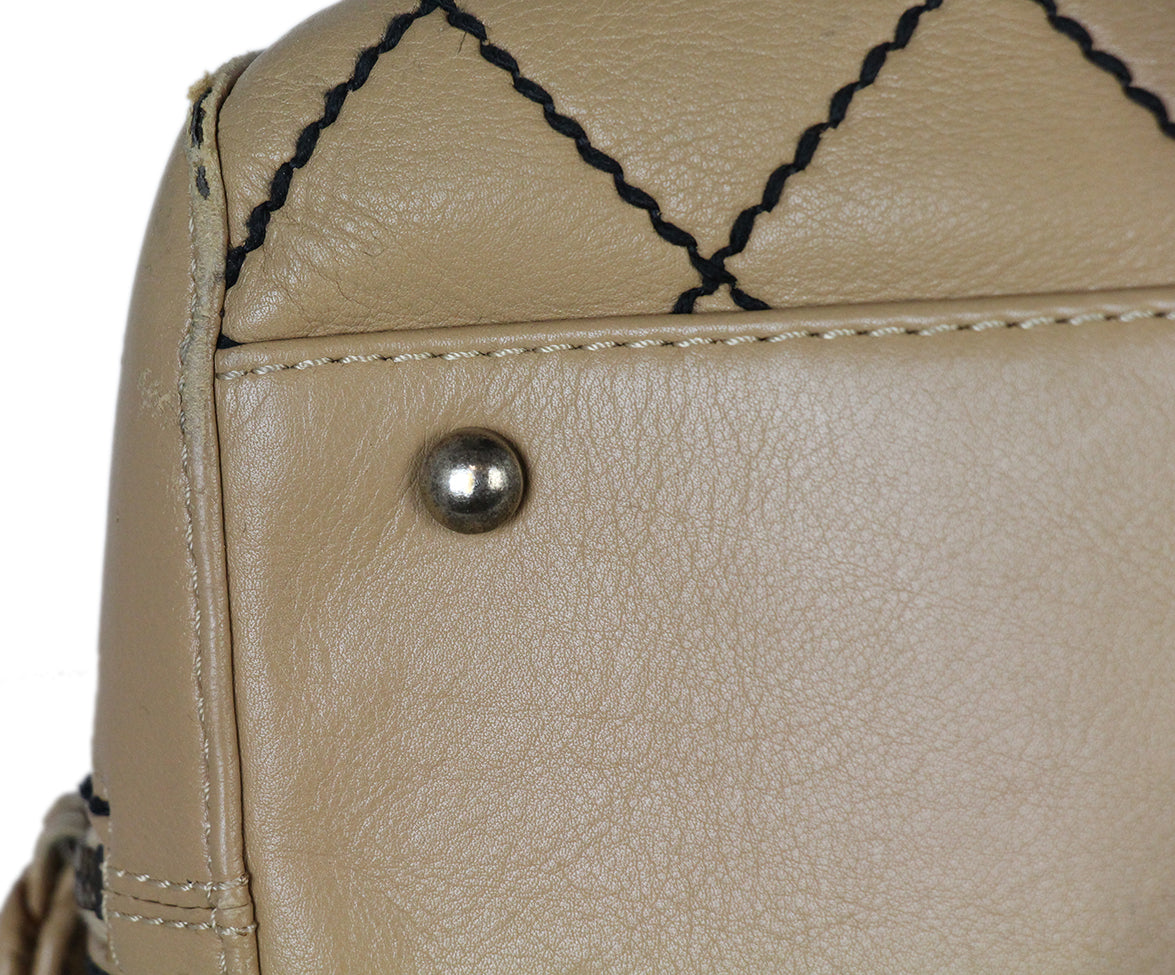 Chanel Tan Leather Travel Bag 12