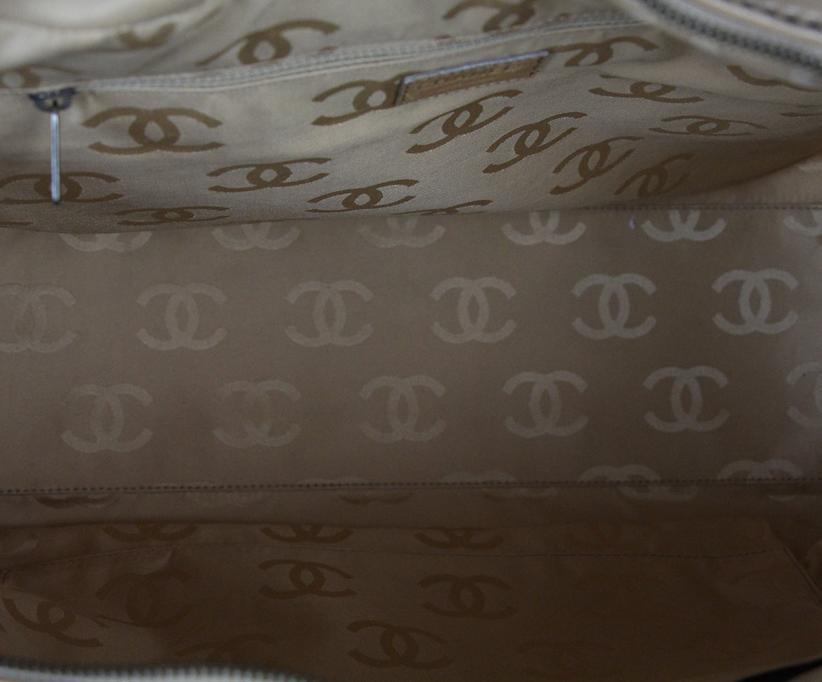 Chanel Tan Leather Travel Bag 6