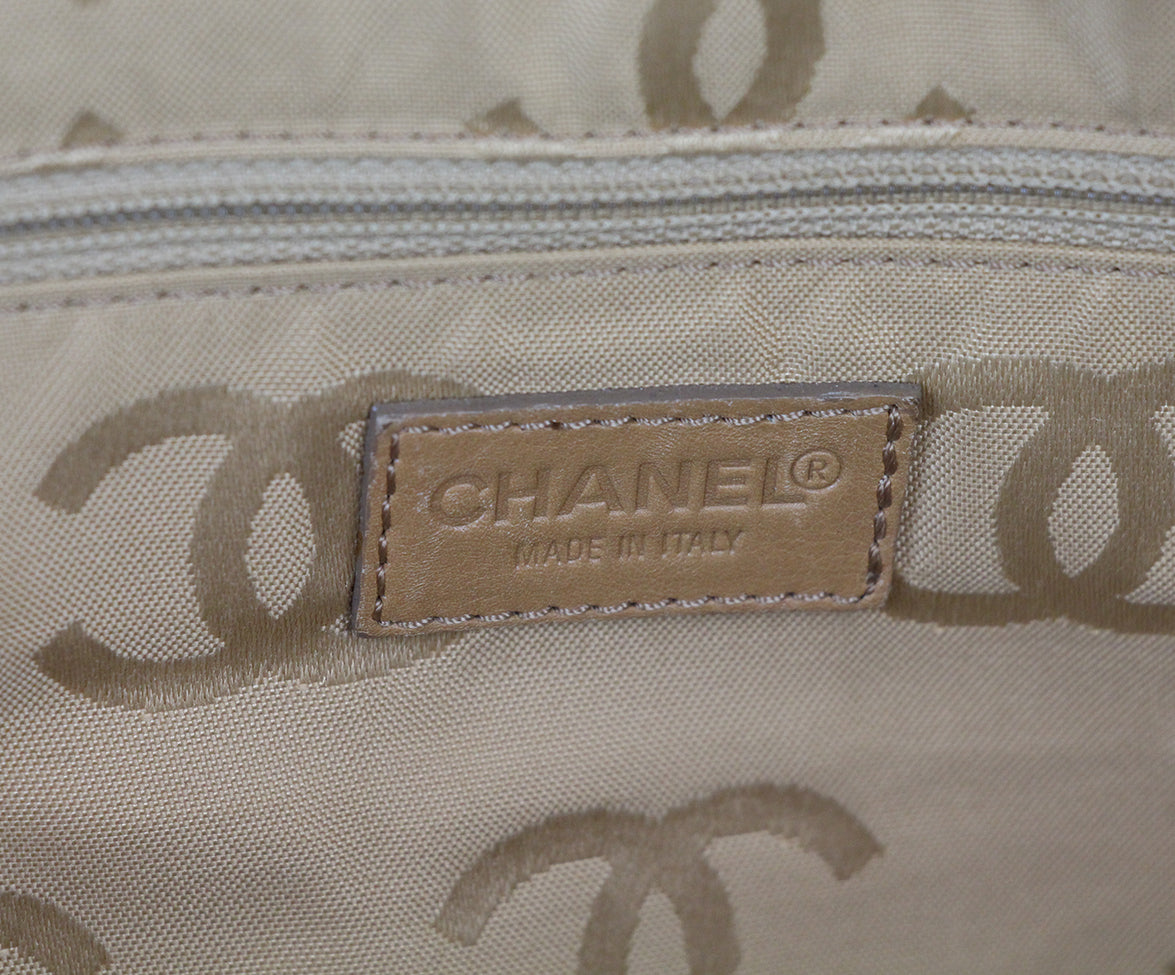 Chanel Tan Leather Travel Bag 7