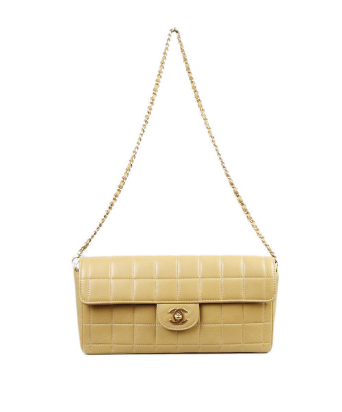 Chanel Tan Quilted Leather Handbag