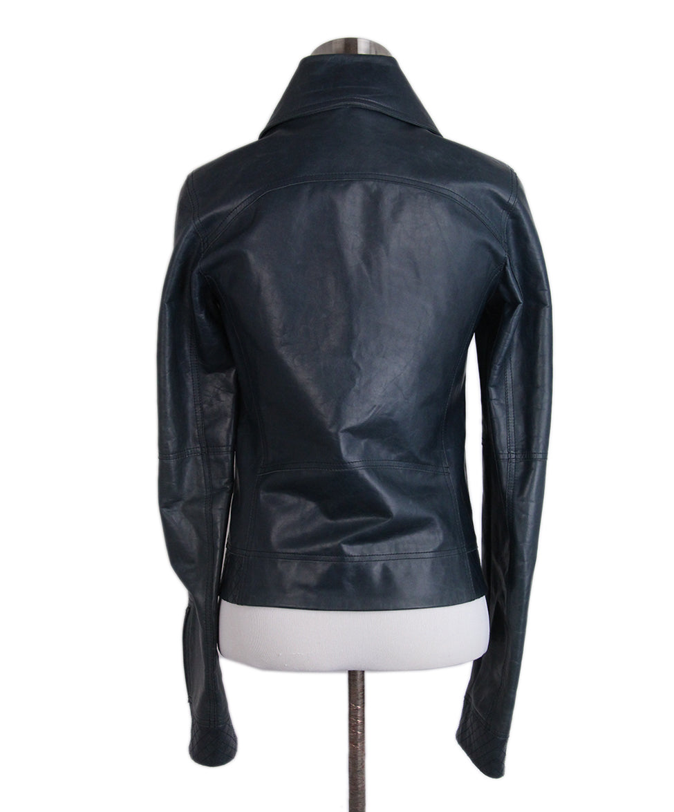 Chanel Teal Leather Jacket 3