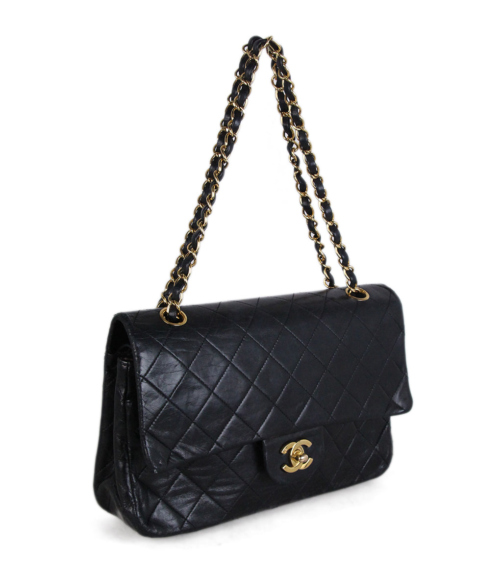Chanel Vintage Classic Black Bag 2