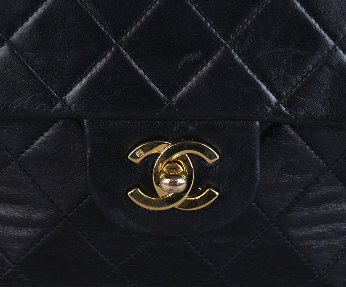 Chanel Vintage Classic Black Bag 9