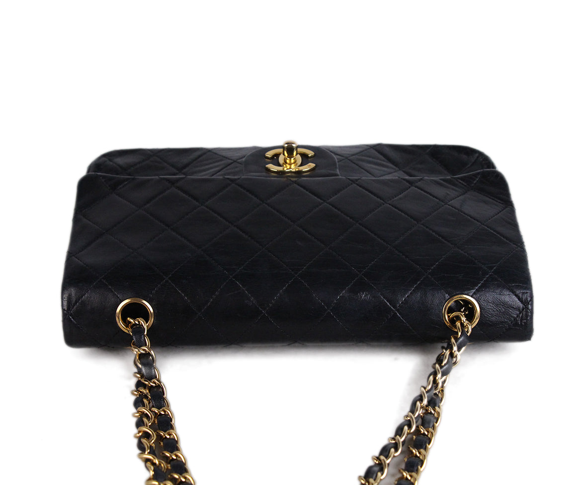 Chanel Vintage Classic Black Bag 5