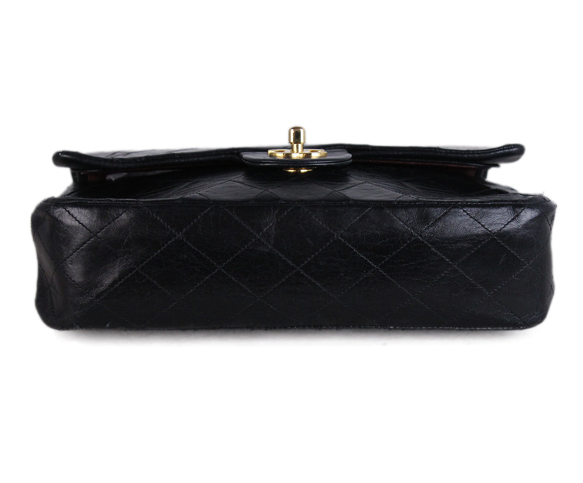 Chanel Vintage Classic Black Bag 4