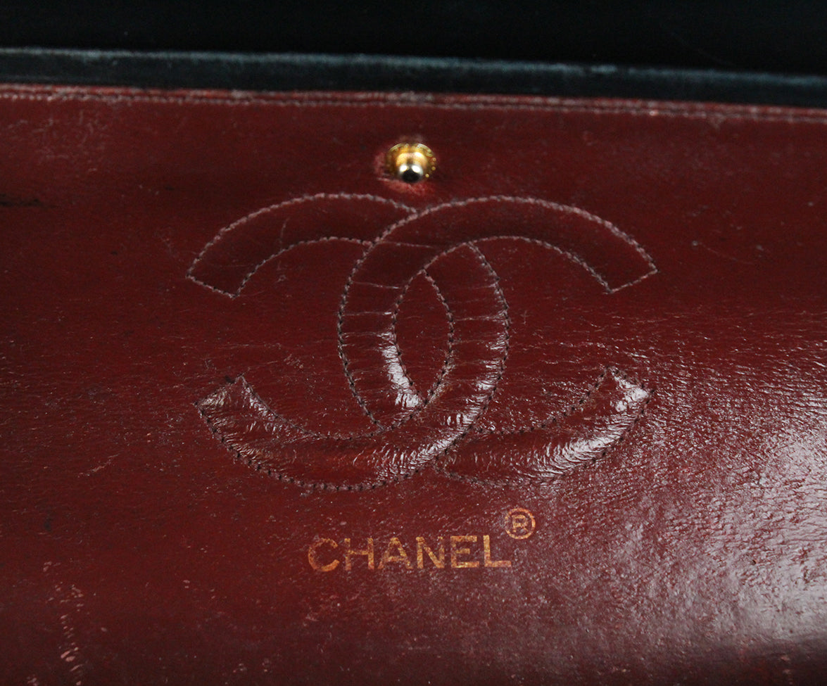 Chanel Vintage Classic Black Bag 7