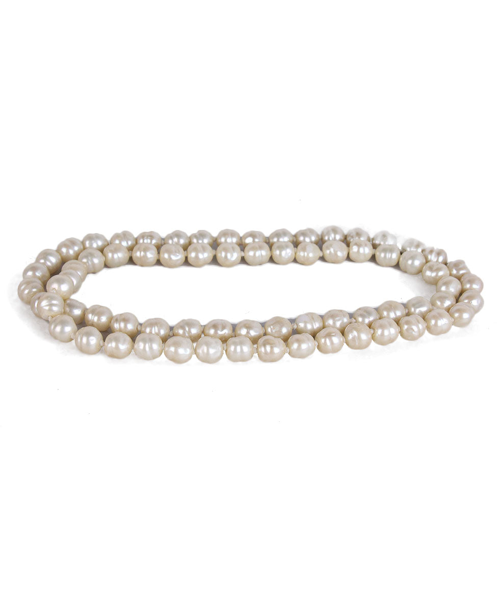 Chanel Vintage Ivory Pearl Necklace 2