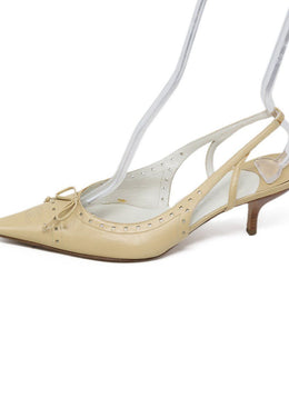 Chanel Neutral Beige Leather Shoes 1