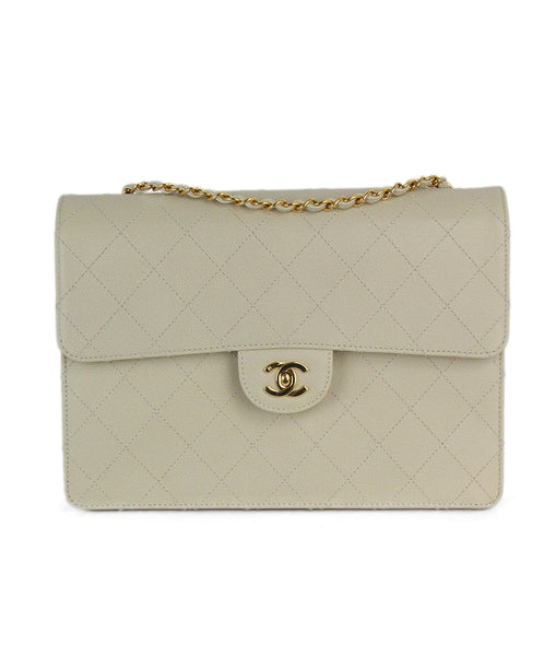 Chanel beige leather vintage 1997 bag 1