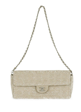 Chanel Neutral Beige Rhinestone Handbag 10
