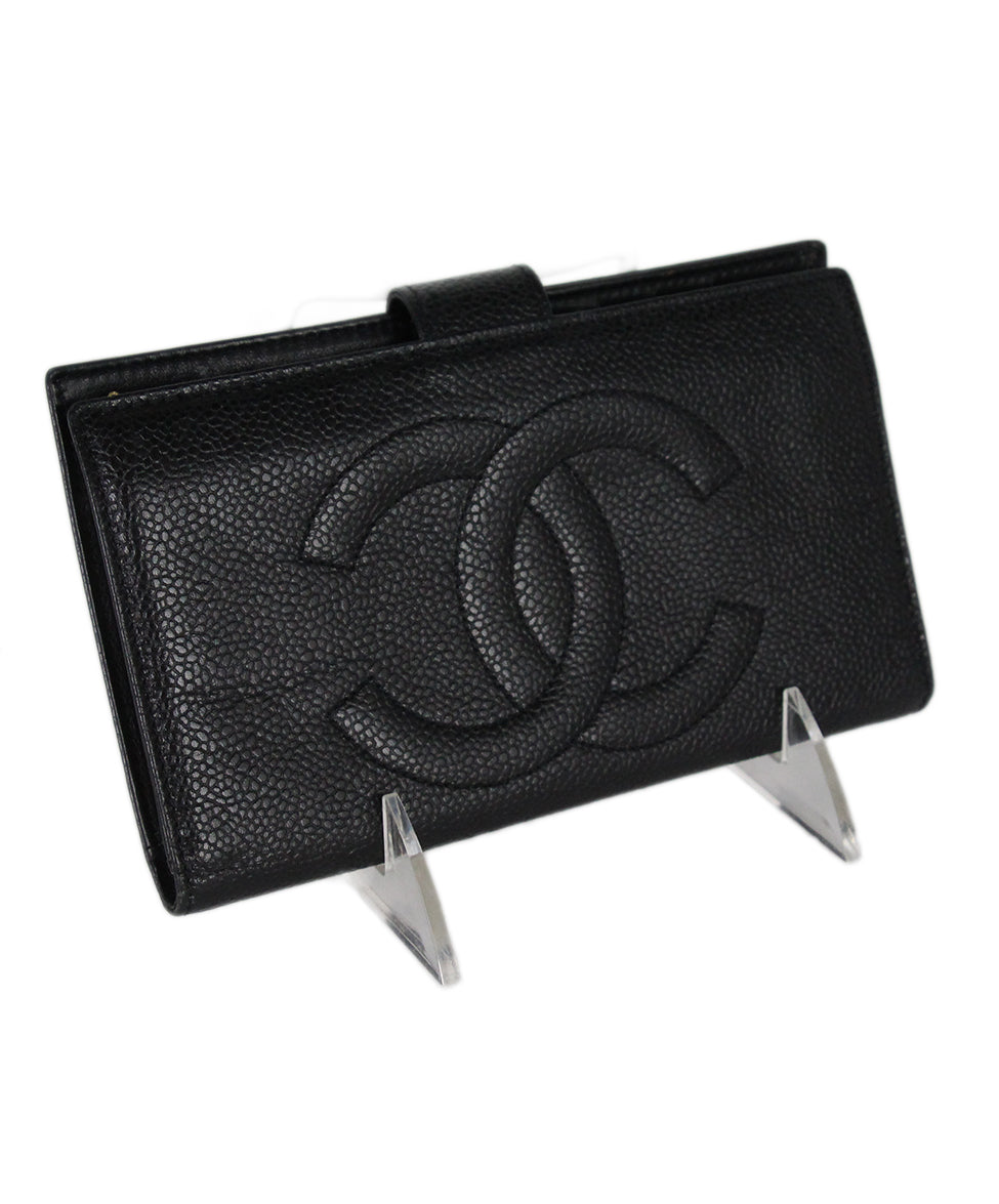 Chanel Black Caviar Leather Goods Wallet 2