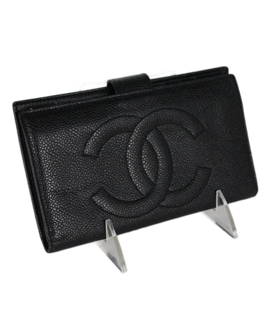 Chanel Black Caviar Leather Goods Wallet 1