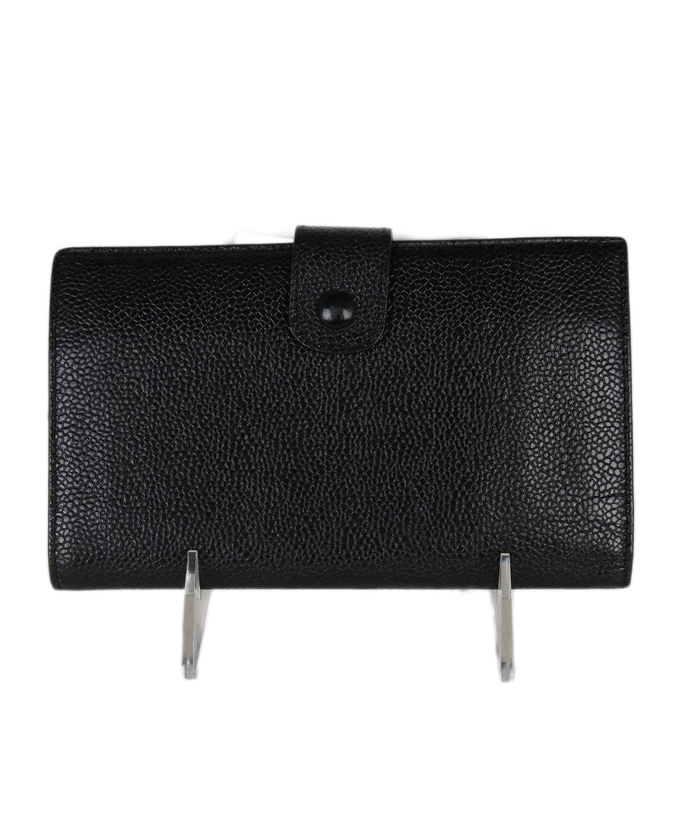 Chanel Black Caviar Leather Goods Wallet 3