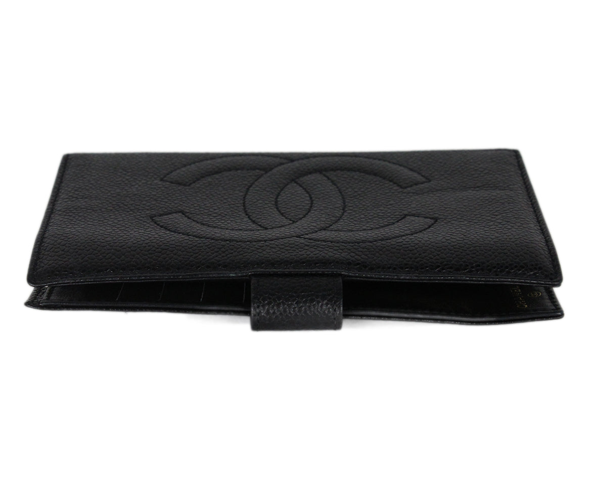 Chanel Black Caviar Leather Goods Wallet 4