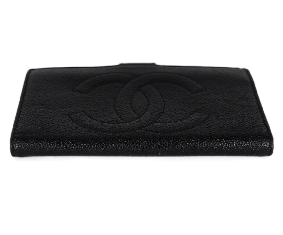 Chanel Black Caviar Leather Goods Wallet 5