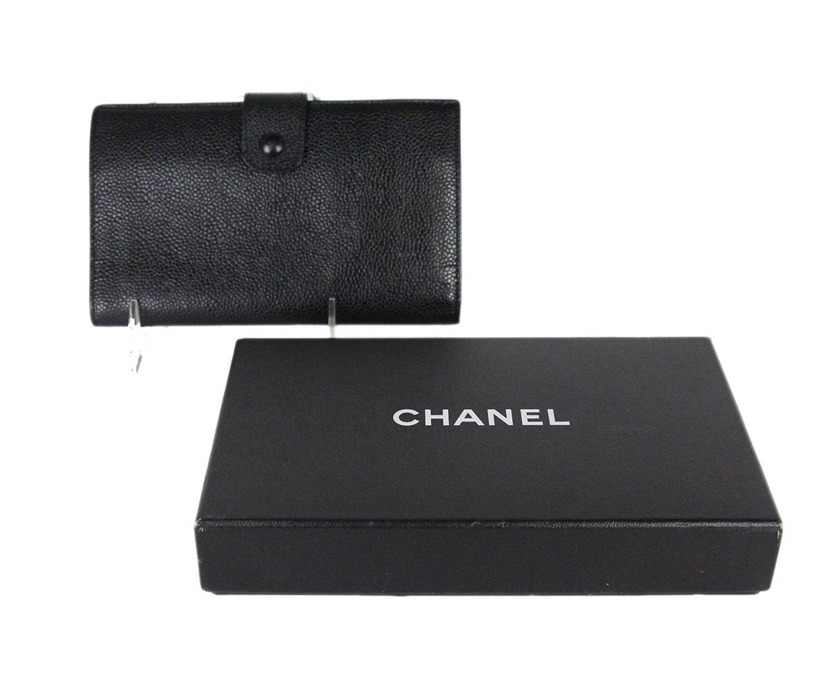 Chanel Black Caviar Leather Goods Wallet 8