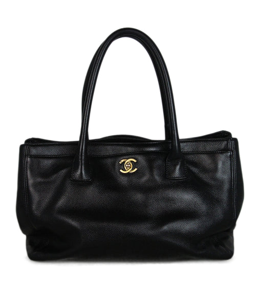 Chanel black grained leather Cert Tote 1