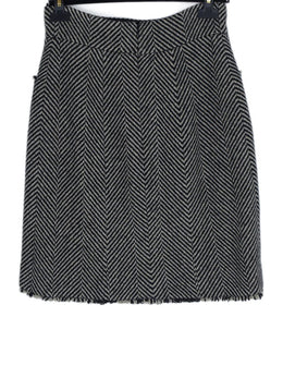 Chanel Black Ivory Wool Skirt 2
