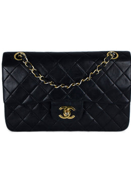 Chanel Black Quilted Leather Classic Flap Shoulder Bag 1