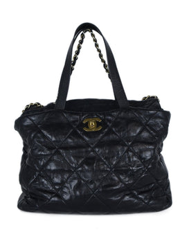 Chanel Black Quilted Leather Tote | Chanel