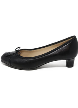 Chanel black leather patent trim 2