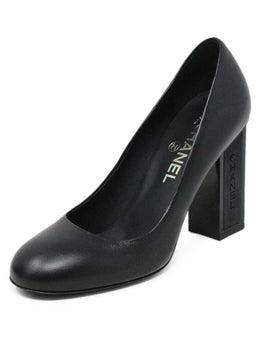 Chanel Black Leather Pumps Sz 7.5