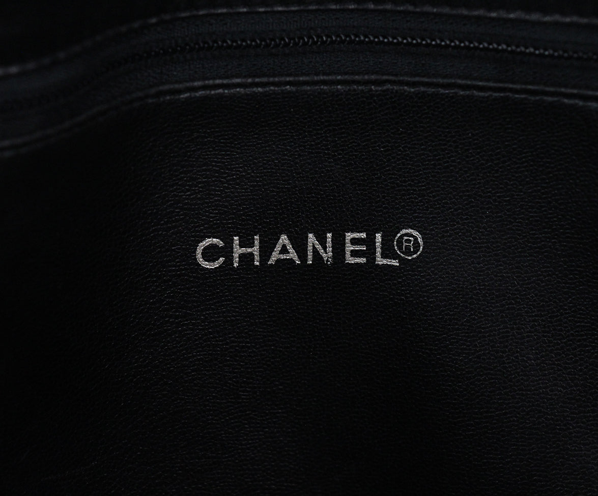 Chanel black leather tote 7