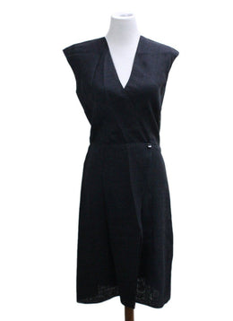 Chanel Black Linen Dress sz 6