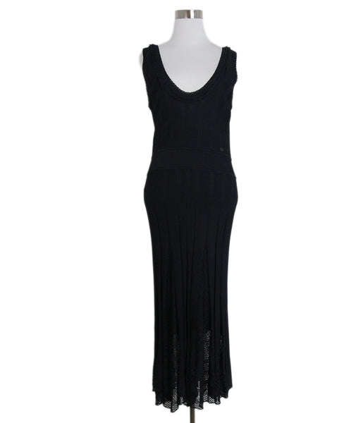 Chanel black long dress 1
