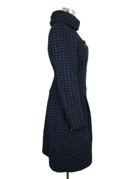 Chanel Black Navy Wool Tweed Pocket Details Dress 2